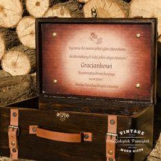 kufer na szpargały, pudełko na pamiątki, prezent na chrzest