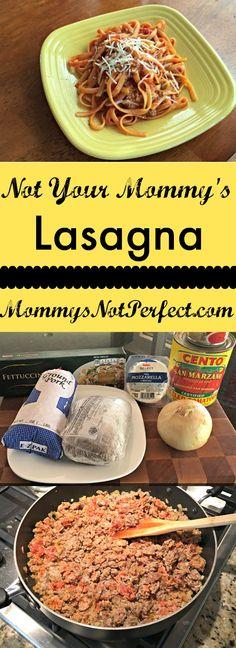 A twist on traditional lasagna - www.mommysnotperfect.com