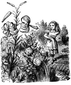 #vintage #printable #Aliceinwonderland #illustration #sketch #blackandwhite #fairytale #bizitalk
