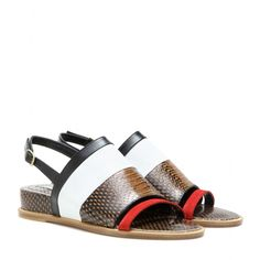 Dries Van Noten - Leather sandals - The mix of skins is what makes these Dries Van Noten sandals such a modern statement piece. seen @ www.mytheresa.com