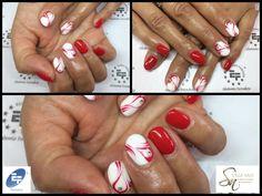 Nail Art by Stella Nails di Alice Conventi... Linea Gellacco EF Euro Fashion Smalto Semipermanente...Color in Red #415...Color Wedding Dress #414 Per Nail art utilizzato Linea EF Euro Fashion Paint Gel red n°5
