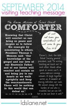 September 2014 Visiting Teaching Message - free download - Comforter  ldslane.net