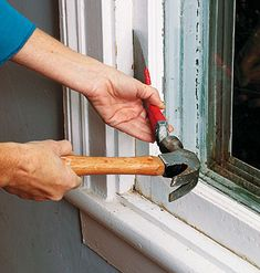 Unstick a Window A sash that won't budge is a common and persistent malady for double- and single-hung windows, especially those made of wood. Here are three steps to help get it moving today.