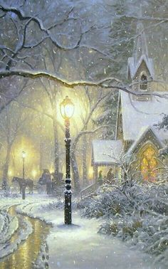 Vintage winter/christmas - Mark Keathley-😍 luv this Victorian Christmas, Vintage Christmas Cards, Christmas Past, Christmas Pictures, Winter Christmas Scenes, White Christmas, Illustration Noel, Christmas Illustration, Illustrations