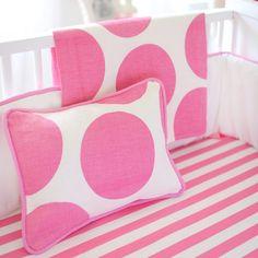 New Arrivals Crib Bedding Spot On Fuchsia.