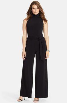Lauren Ralph Lauren Turtleneck Sleeveless Jumpsuit  (Plus Size) available at #Nordstrom