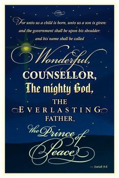 Scripture Isaiah 9:6