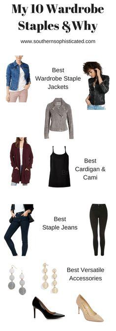 My 10 Wardrobe Staples and Why - Capsule Wardrobe.    #capsulewardrobe #wardrobe #wardrobestaples