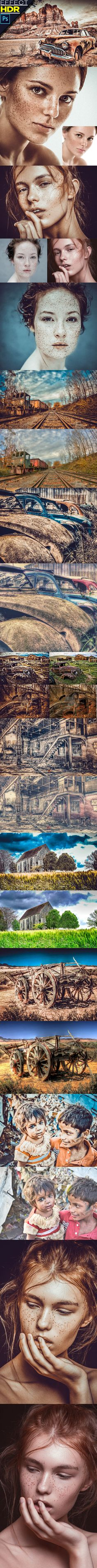 HDR Effect Photoshop Action - Photo Effects Actions add-ons,artistic,black and white,cartoon,comic,drawing effects,hand drawing,hdr,image,image effect,image sketch,lightroom,pencil effect,photo,photo effect,photoshop action,pixel,potoshop