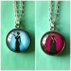 Anna and Elsa Double Sided Petite Disney Necklace - Inspired from Disney's Frozen, $22.50 Just ordered this from Etsy!