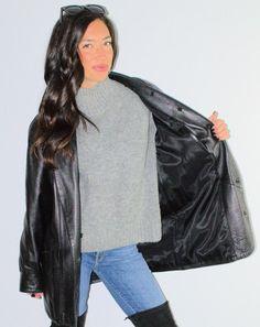 Vintage 90s Black Pans WomenBlack Real Leather CANDA Size: 38, UK 12