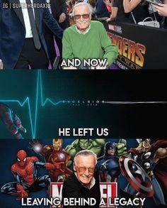Heroes get remembered, but legends never die! #RIPStanLee #StanleyMartinLieber #Excelsior #StanLee #Marvel #MCU #MarvelFan #MarvelNerd…