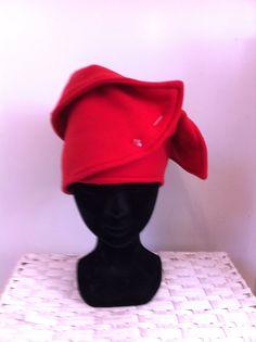 Rood fleece hoofdband van FoxandThimble101 op Etsy