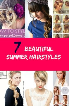 Summer is just around the corner!  Do you want to try a new look this summer?  Get your hair summer ready! See tutorials now ----> http://www.discountqueens.com/7-beautiful-summer-hairstyles/