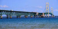 Visiting the Mackinac Bridge In Summer, a beautiful spot!