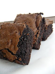Brownies with Bailey's...bliss. The recipe is on the blog.