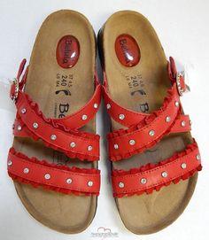 Red Betula Sandals
