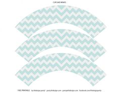 free chevron party printables cupcake wrappers