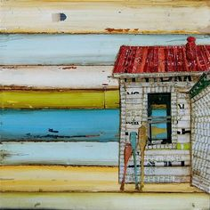 Beach Shack and Oars  Southern Maine Beach by dannyphillipsart, $25.00