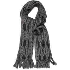 Pre-owned Christian Dior M?lange Rib Knit Scarf ($125) ❤ liked on Polyvore featuring accessories, scarves, grey, grey scarves, grey shawl, christian dior, gray shawl and gray scarves