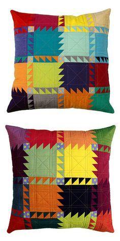 Red Pepper Quilts: The Oakshott Bear Paw Pillow Pattern