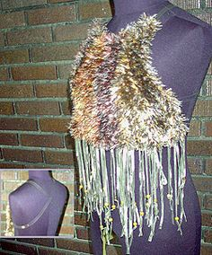 faux-fur halter by annie modesitt   You know you want one! Knit it yourself!