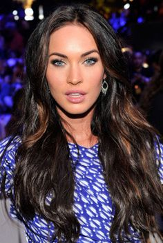 Black with punches of bronze. Megan Fox is so hot!