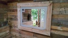 ... , 60x80, rand en decoratie van pallethout, alleen geschuurd (te koop