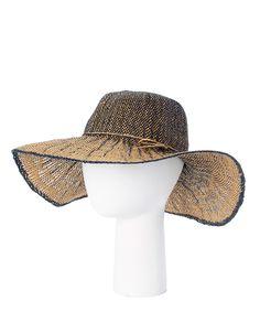Navy & Brown String-Bow Sunhat by Belle Pink #zulily #zulilyfinds