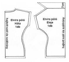 szabásminta Personalized Items, Sewing, Patterns, Google, Diy, Straight Dress, Tunics, Photo Illustration, Block Prints