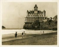 The Cliff House at Point Lobos in San Francisco. This is the original house that burned down in 1906 I believe.