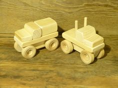 Wood Toy Monster Trucks Bigfoot And Grave Digger Styles Wooden Truck Toys Kids…