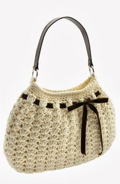 : Crochet Hobo Bag Just One More Line.: Crochet Hobo Bag Not my first crochet bag, but my first BIG one. larger than anticipated (I like small purses), so I made another the size. Crochet Hobo Bag, Crochet Handbags, Crochet Purses, Crochet Bags, Crochet Crafts, Crochet Projects, Love Crochet, Beautiful Crochet, Learn Crochet