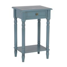 Painted Blue Side Table | Kirklands