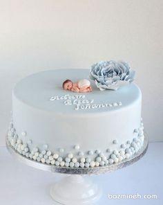 کیک خامهای جشن بیبیشاور پسرونه با تم آبی Baby Shower Cakes Neutral, Baby Shower Cakes For Boys, Baby Boy Cakes, Girl Cakes, Cupcakes, Cupcake Cakes, Pretty Cakes, Beautiful Cakes, Christening Cake Girls