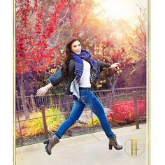In true print-ad style Kate jumps! #terifodeseniors @katecrowley29