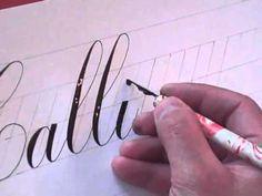 "Hamid Ezra Ebrahimi: How To Write Copperplate - Writing the Word ""Calligraphy"""