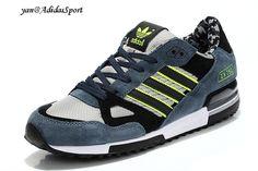Adidas Originals ZX 750 Mens running shoes Camouflage-Glaucum/black/light grey/Neon Green HOT SALE! HOT PRICE!