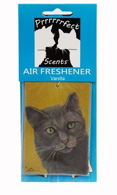 Prrrrrrfect Scents Grey Cat Air Freshener, Vanilla >>> Click on the image for additional details.