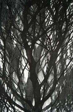 Helen Mueller,    'Requiem 1' 2013,    hand cut and printed woodblock,  117 x 76cm,  edition of 2 + AP