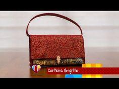 Bolsa carteira de tecido Brigitte - Maria Adna Ateliê - Cursos e aulas de bolsas de tecido - YouTube