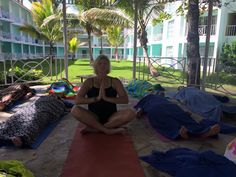 NRG2GO instructor Sherri Sabin at the beautiful Gran Ventana Beach Resort.    http://NRG2GO.NET = Namaste