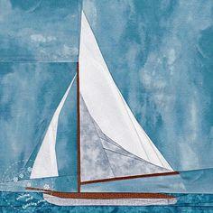 Summer Sailboat - Paper Piecing | Craftsy
