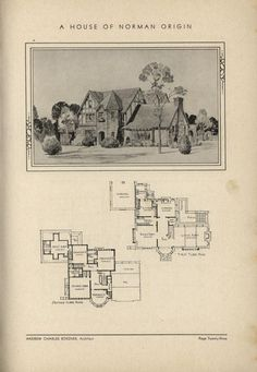 Norman Tutor inspired home by Architect Andrew Charles Borzner.  The book of beautiful homes. by Andrew C. Borzner  Published 1932  BookReaderImages.php (607×878)