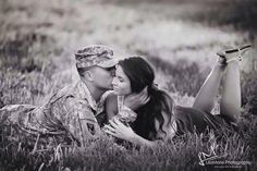 Our Love is Military Strong Military Couple Pictures, Military Couples, Military Girlfriend, Military Love, Military Photos, Couple Pics, Boyfriend, Military Engagement Pictures, Country Engagement Pictures