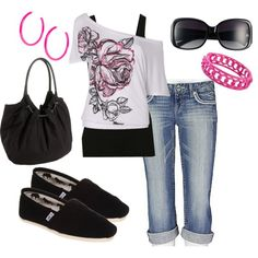 A fashion look from July 2012 featuring Splendid tops, Daytrip jeans and TOMS shoes. Browse and shop related looks.