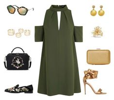 """Night and day shoulder off dress"" by pana-canaj ❤ liked on Polyvore featuring Topshop, Miu Miu, Alexander McQueen, Gianvito Rossi, David Yurman, under100 and shoulderoffdress"