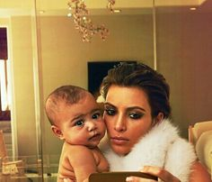 North West and Kim kardashian/ oh just in case that last selfie didn't take...... WTF????