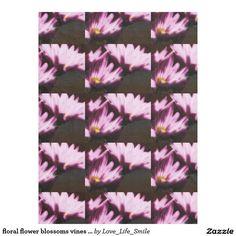 floral flower blossoms vines petals plant bloom fleece blanket