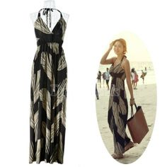 $ 10.50  Great Elegant Women Backless Strap Beach Sun Long Dress...GREAT DRESSES AT AMAZING PRICES
